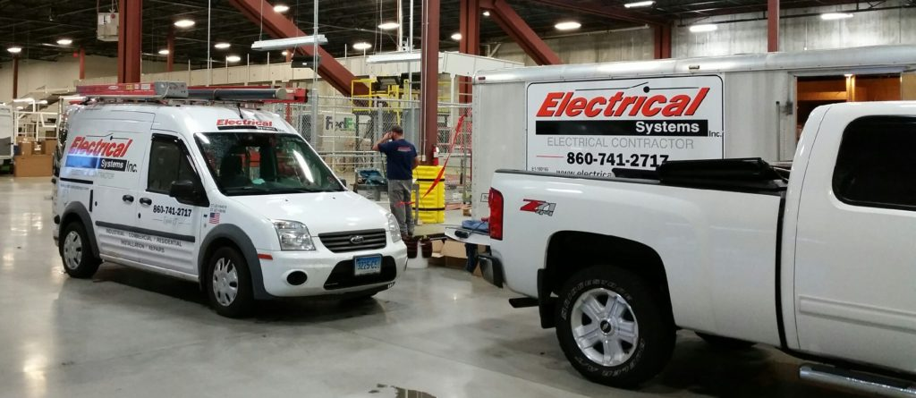 electrical systems trucks in facility